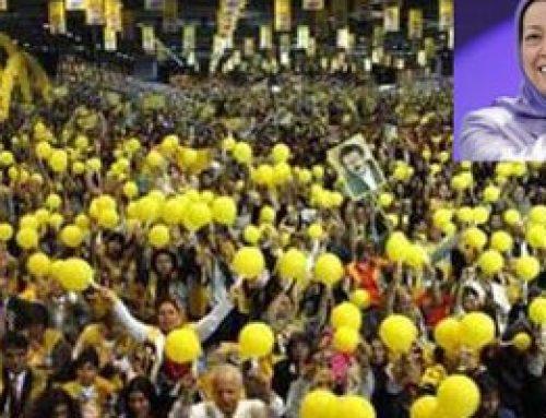 grand rassemblement international pour le soutien à un changement démocratique qui se déroulera samedi 23 juin au Parc des Expositions de Villepinte.