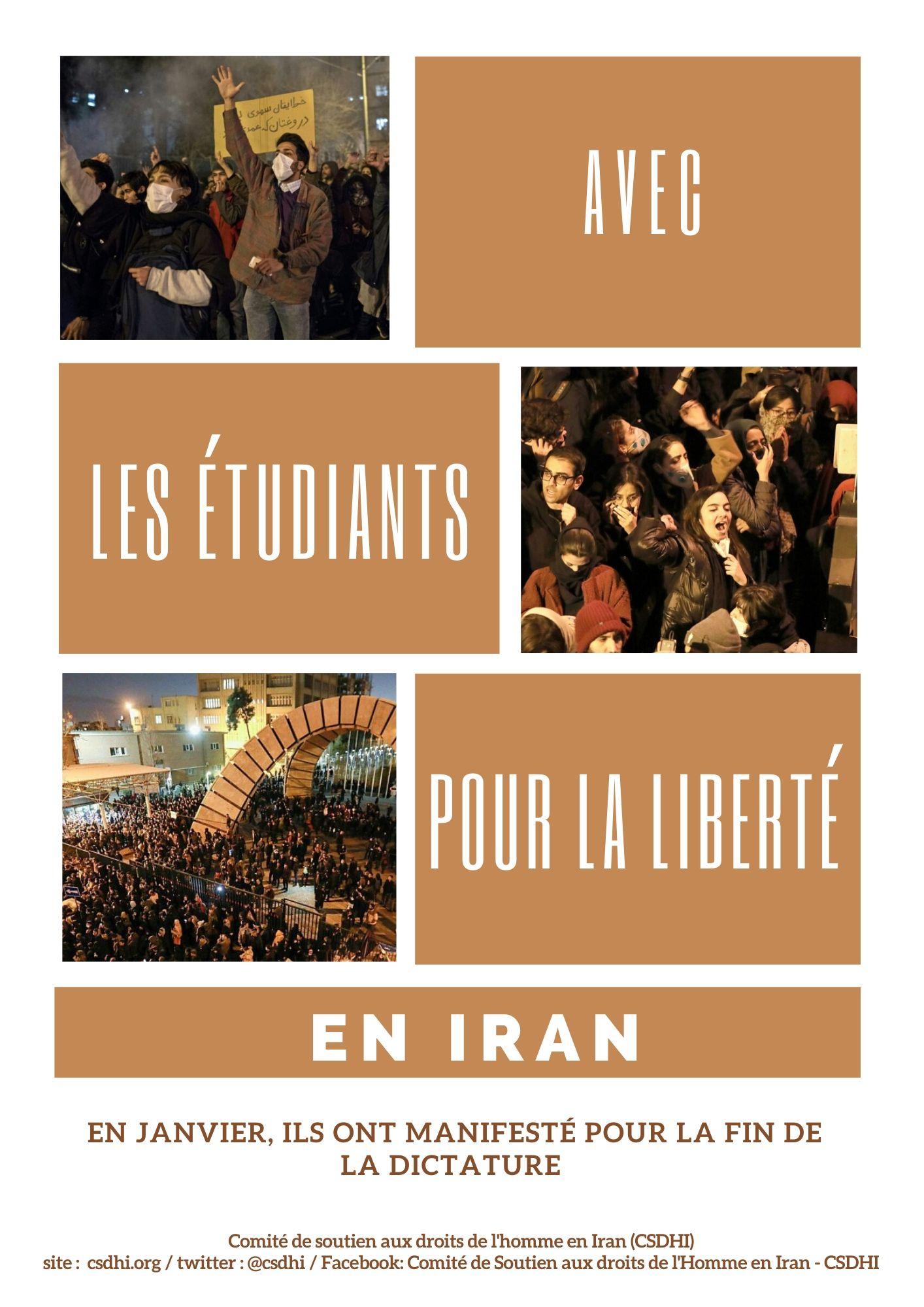 avec les etudiants pour la liberte en iran