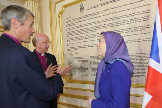 maryam radjavi iran 2 eveques anglicans
