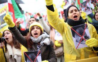 manifestation iraniens paris non a Rohani