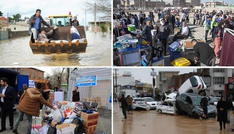 Iran inondations population abandonnée
