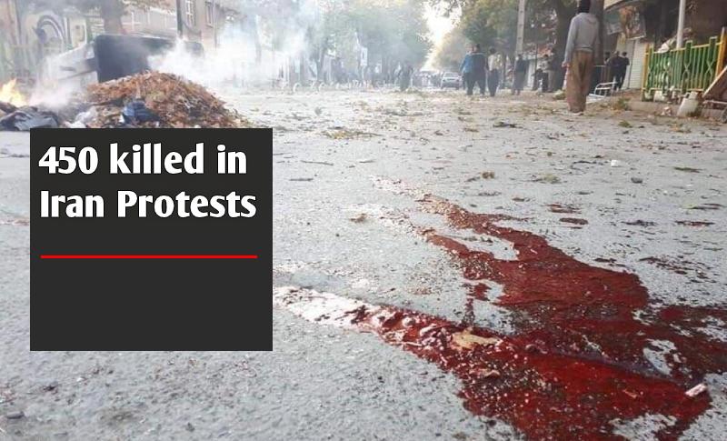 450 morts manifestations iran