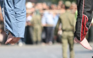 deux prisonniers exécutés iran