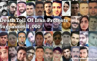 1000 morts manifestations iran