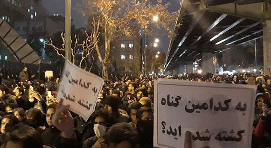 12 Juin manifestations avion crash iran