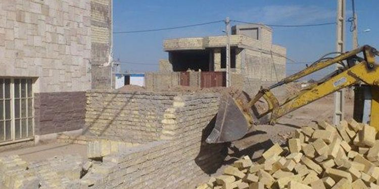 démolition maison iran