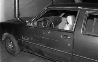 Véhicule de Kazem Radjavi assassiné en Suisse par des terrorsites du régime des mollahs en 1990