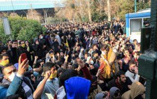 les manifestations en iran
