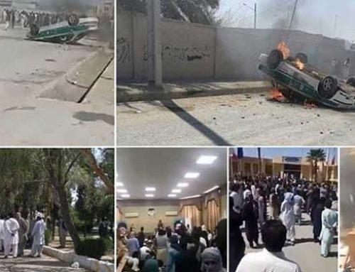 Les forces de sécurité iraniennes utilisent des gaz lacrymogènes pour disperser les manifestants à Saravan